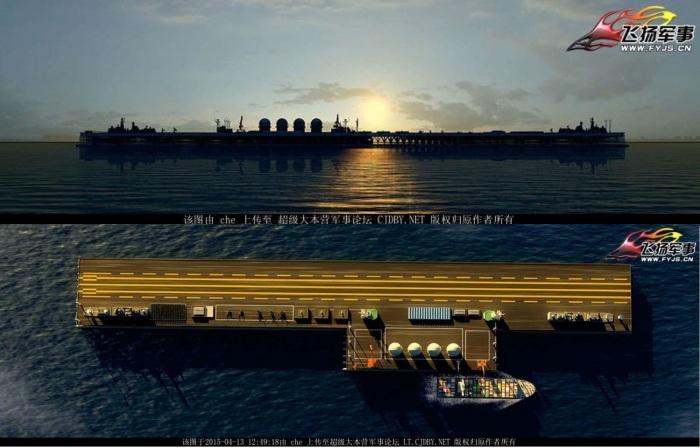Hình ảnh minh họa trên máy tính về một đảo nổi mà Trung Quốc dự kiến xây dựng. Ảnh: popsci