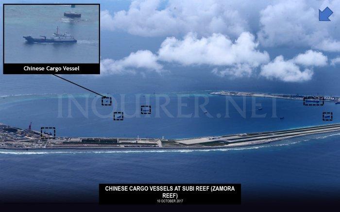 10 Oct 2017 Tàu vận tải ở Subi Reef 3
