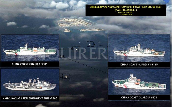 14 Jan 2017 Các loại tàu hải quân và hải giám ở Fiery Cross