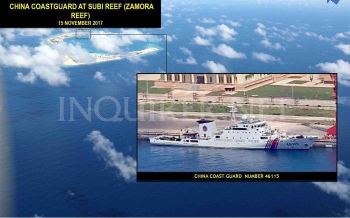 15 Nov 2017 Tàu hải giám ở Subi Reef