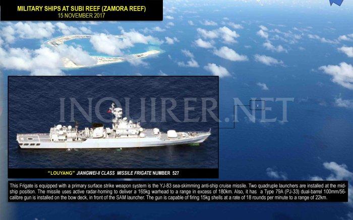 15 Nov 2017 Tàu quân sự ở Subi Reef