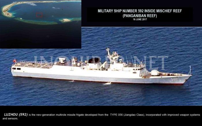 16 June 2017 Tàu quân sự 592 trong Vành Khăn 2