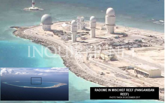 30 Dec 2017 Radome in Mischief reef